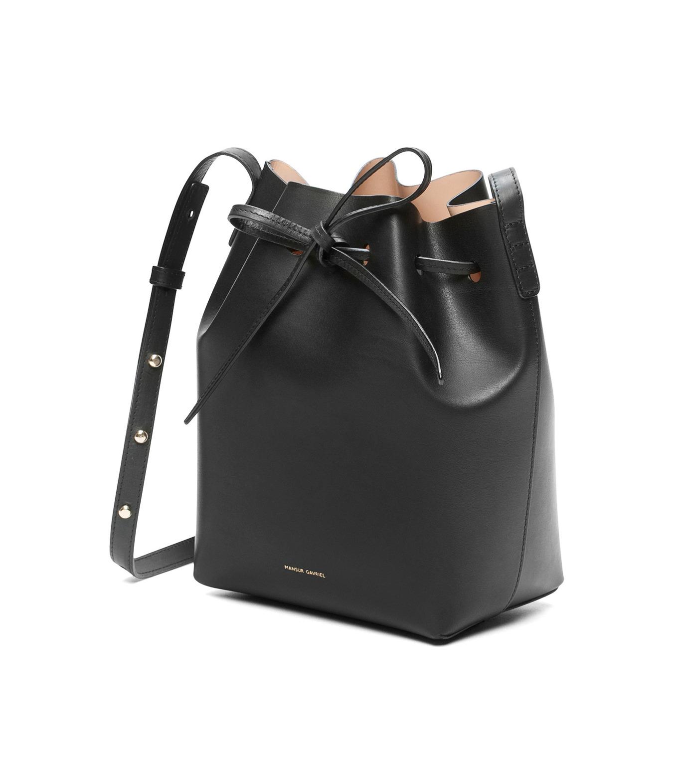 Mansur Gavriel(マンサーガブリエル)のmini bucket bag-BLACK(ショルダーバッグ/shoulder bag)-HMB004VC-13 拡大詳細画像2