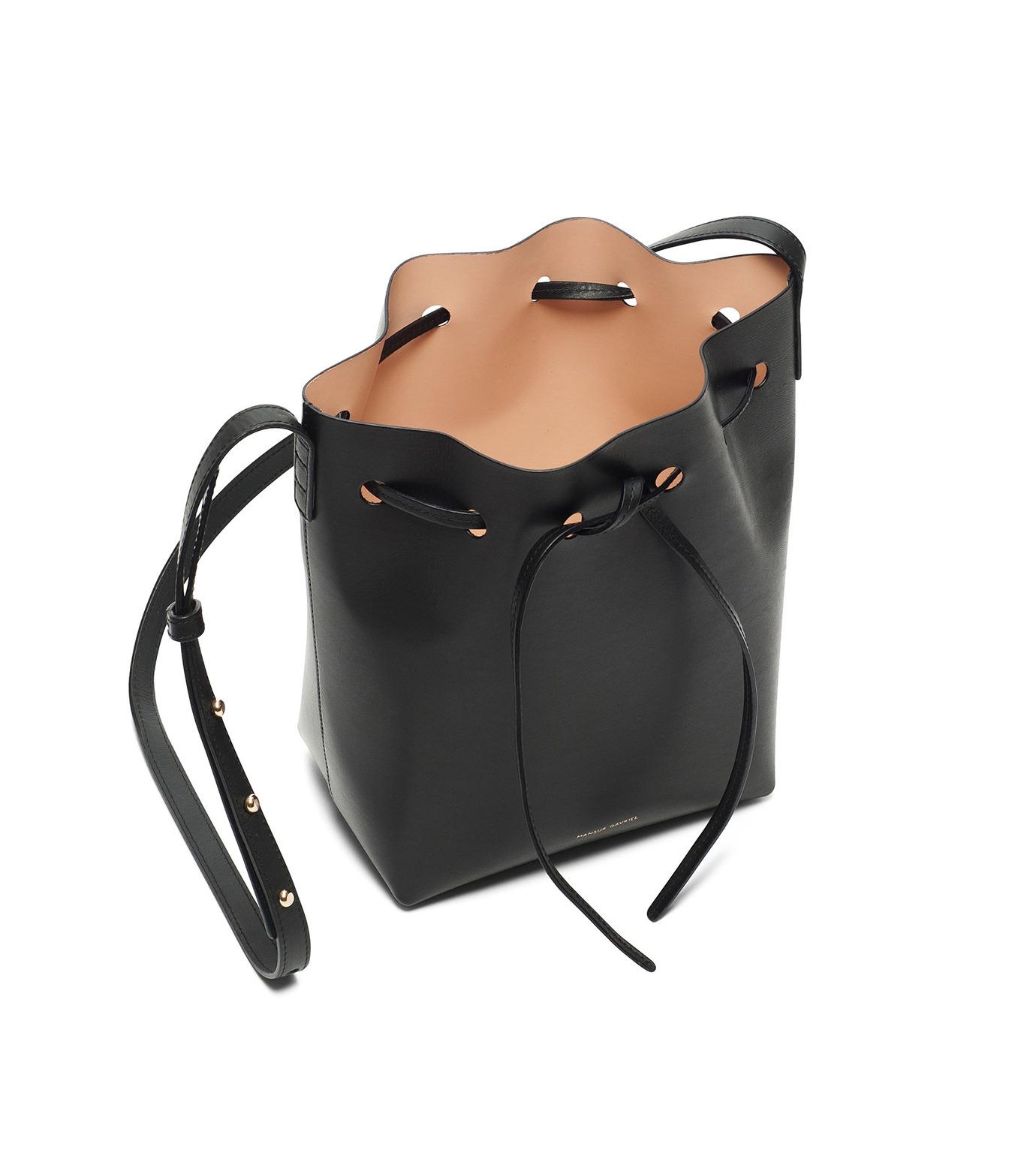 Mansur Gavriel(マンサーガブリエル)のmini bucket bag-BLACK(ショルダーバッグ/shoulder bag)-HMB004VC-13 拡大詳細画像3