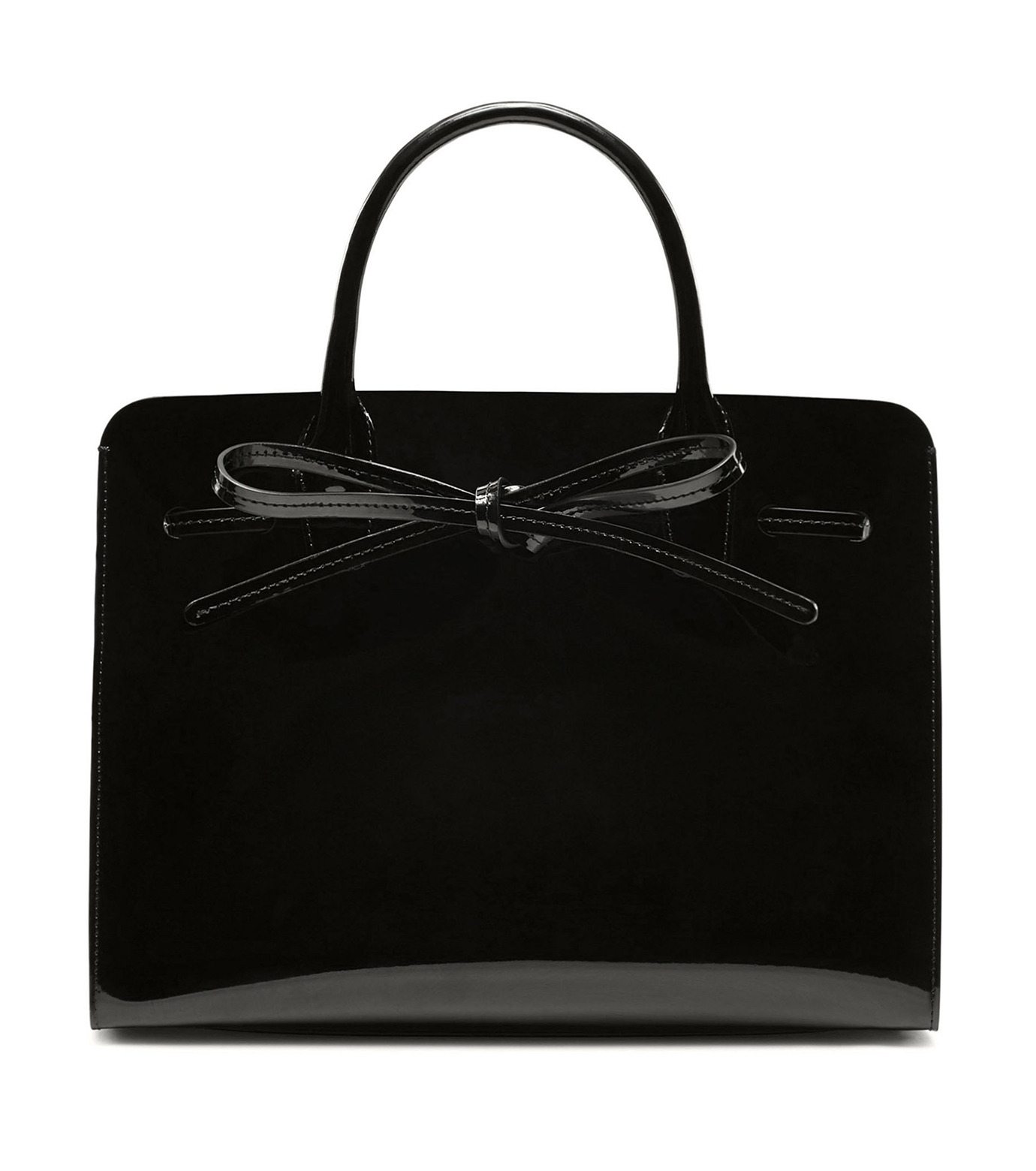 Mansur Gavriel(マンサーガブリエル)のpatent mini sun bag-BLACK(ハンドバッグ/hand bag)-HMS030PA-13 拡大詳細画像1
