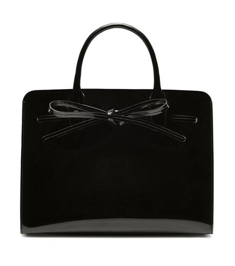 Mansur Gavriel(マンサーガブリエル)のpatent mini sun bag-BLACK(ハンドバッグ/hand bag)-HMS030PA-13 詳細画像1