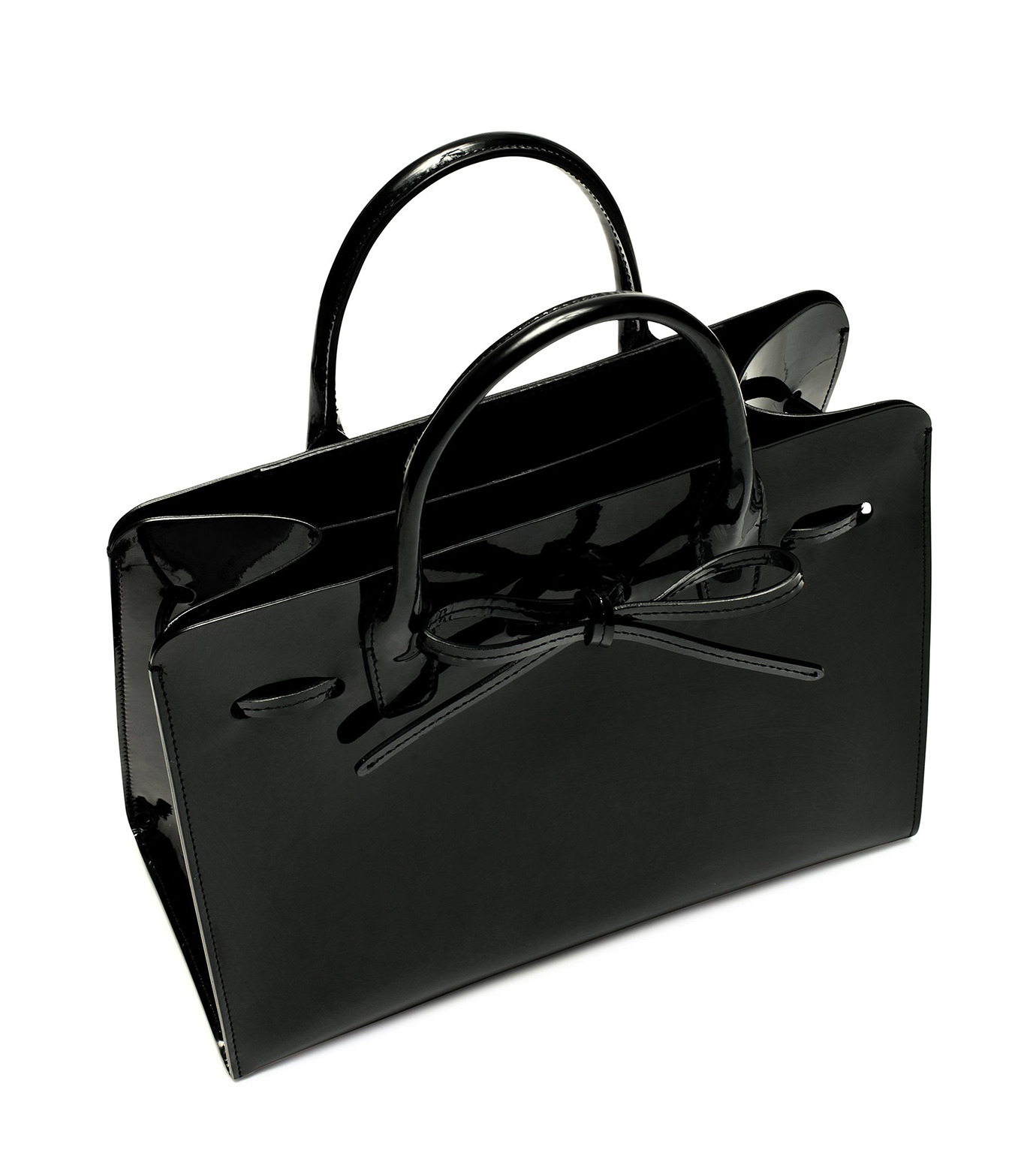Mansur Gavriel(マンサーガブリエル)のpatent mini sun bag-BLACK(ハンドバッグ/hand bag)-HMS030PA-13 拡大詳細画像2