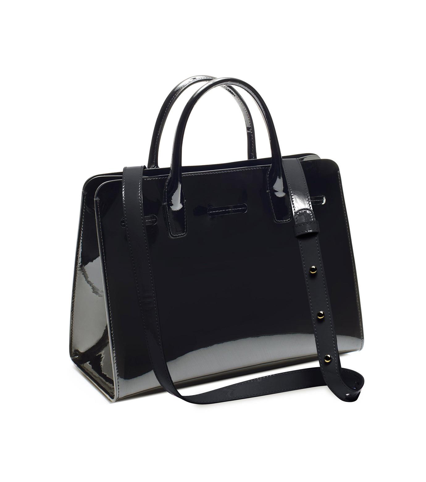 Mansur Gavriel(マンサーガブリエル)のpatent mini sun bag-BLACK(ハンドバッグ/hand bag)-HMS030PA-13 拡大詳細画像3