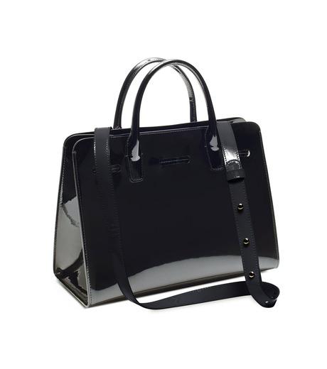 Mansur Gavriel(マンサーガブリエル)のpatent mini sun bag-BLACK(ハンドバッグ/hand bag)-HMS030PA-13 詳細画像3