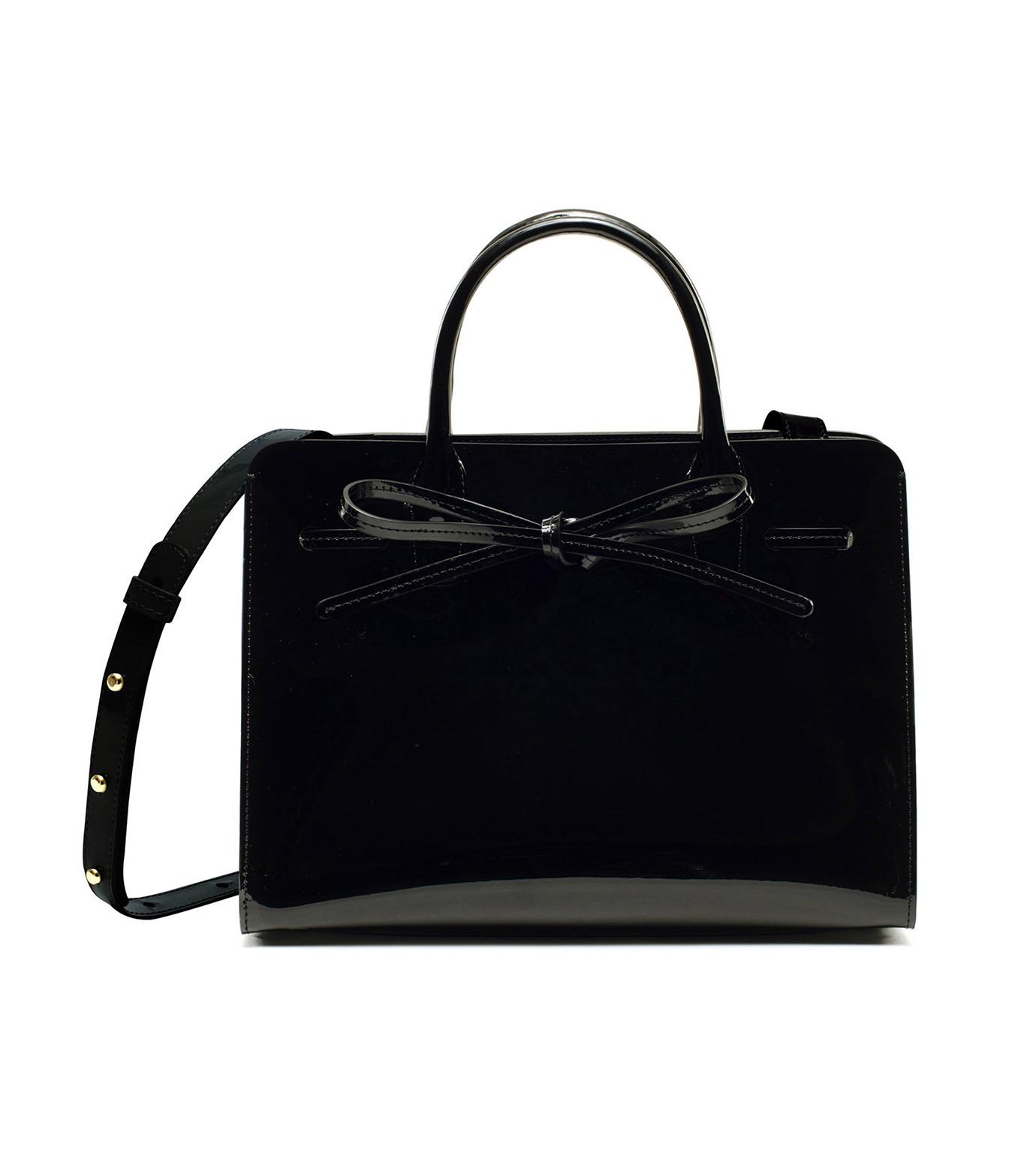 Mansur Gavriel(マンサーガブリエル)のpatent mini sun bag-BLACK(ハンドバッグ/hand bag)-HMS030PA-13 拡大詳細画像4