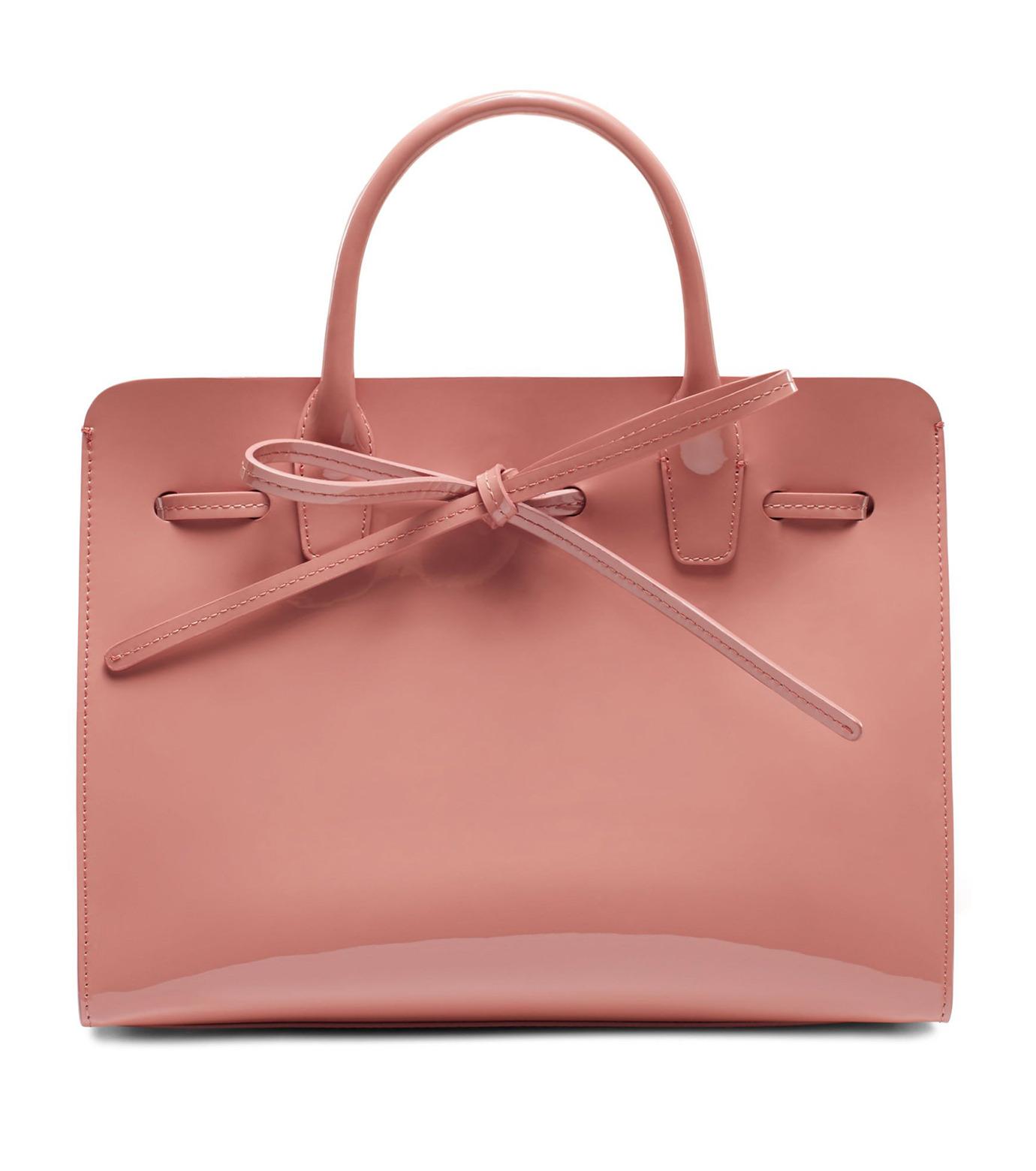 Mansur Gavriel(マンサーガブリエル)のpatent mini sun bag-LIGHT PINK(ハンドバッグ/hand bag)-HMS030PA-71 拡大詳細画像1