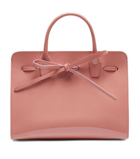 Mansur Gavriel(マンサーガブリエル)のpatent mini sun bag-LIGHT PINK(ハンドバッグ/hand bag)-HMS030PA-71 詳細画像1