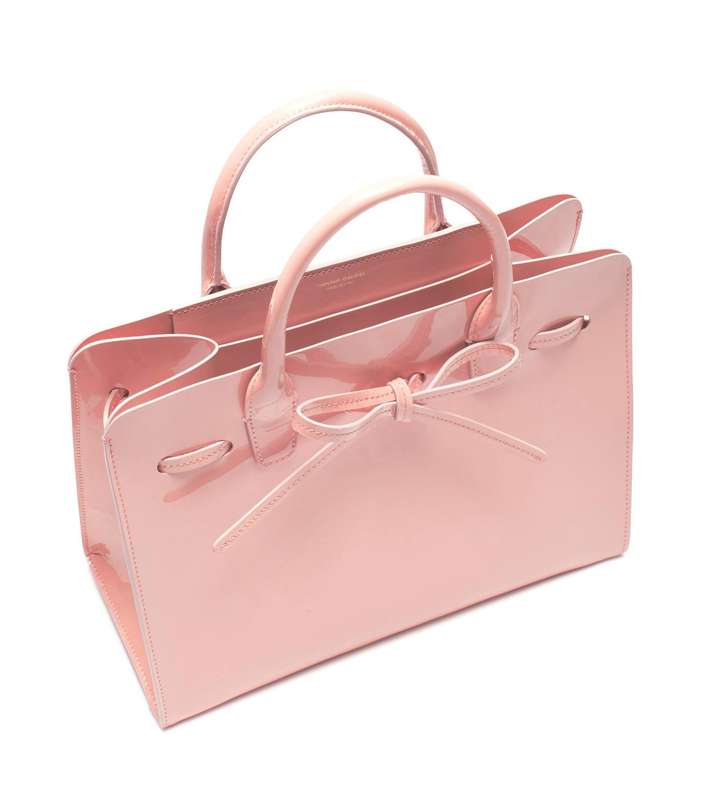 Mansur Gavriel(マンサーガブリエル)のpatent mini sun bag-LIGHT PINK(ハンドバッグ/hand bag)-HMS030PA-71 拡大詳細画像2