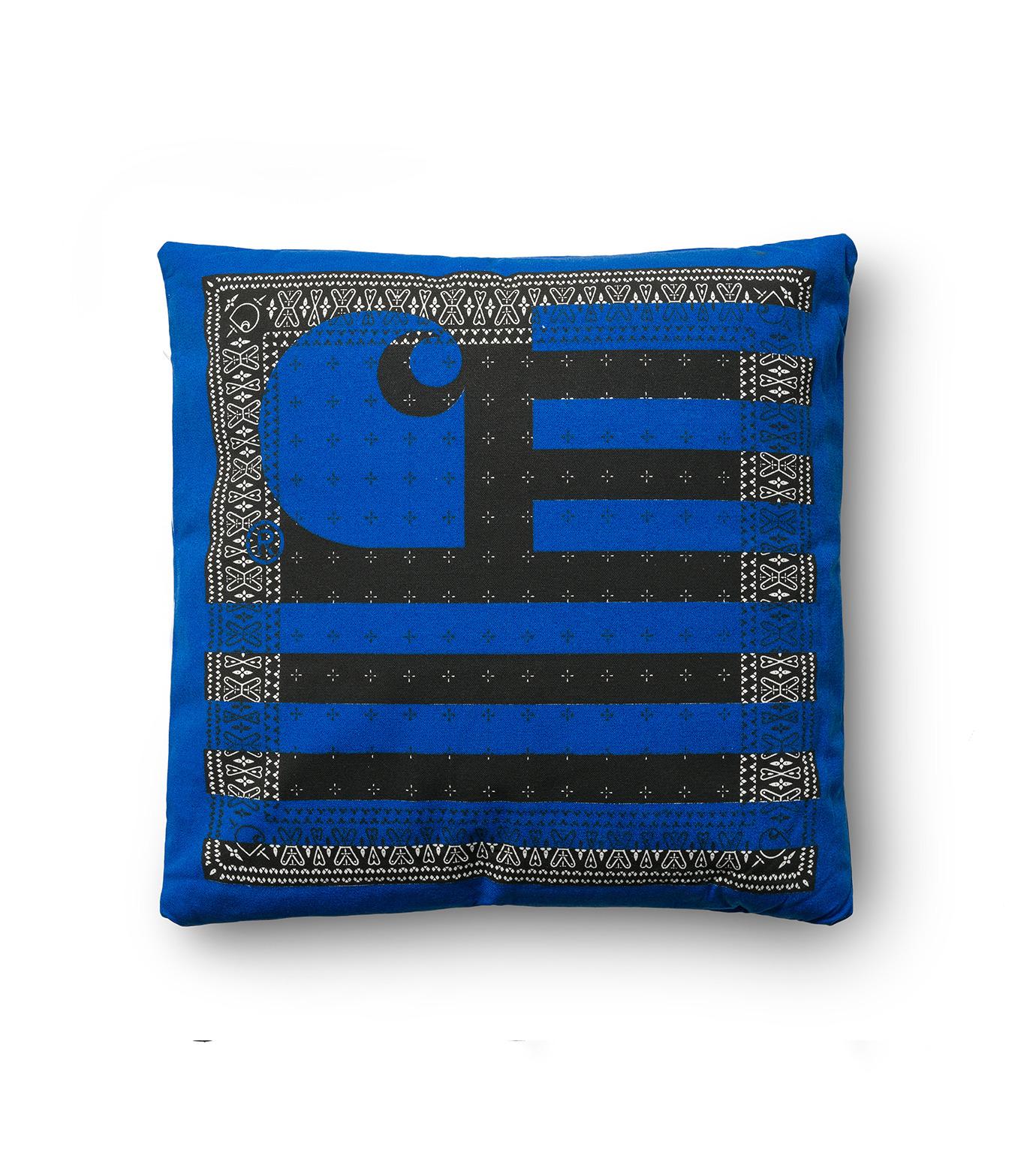 Carhartt(カーハート)のSTATE PILLOW-BLUE(インテリア/interior)-I020354-15F-92 拡大詳細画像1