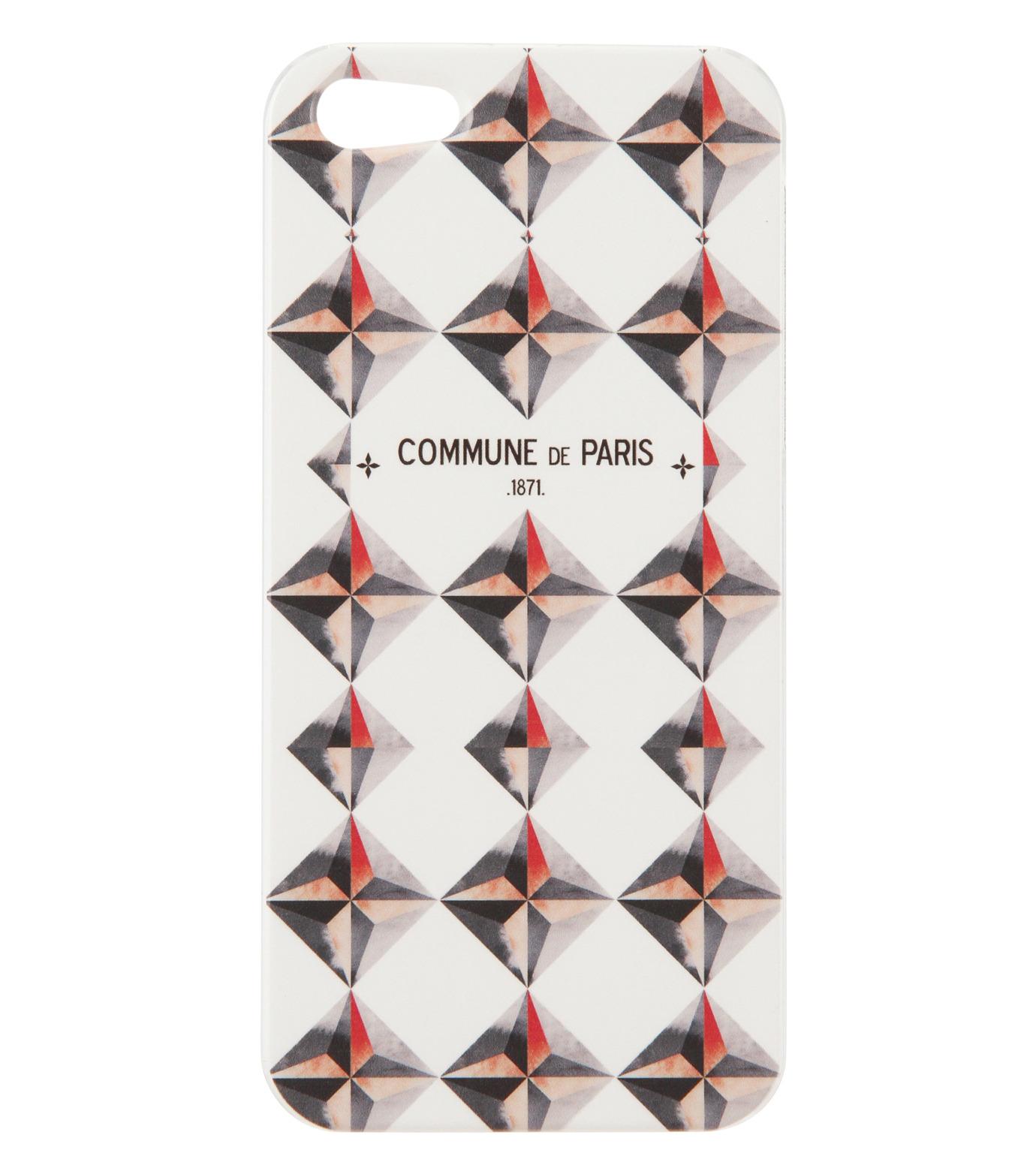 Commune de Paris(コミューン ドゥ パリ)のIphone5 case etoiles-WHITE(ケースiphone5/5s/se/case iphone5/5s/se)-IP5-CASE2-4 拡大詳細画像1