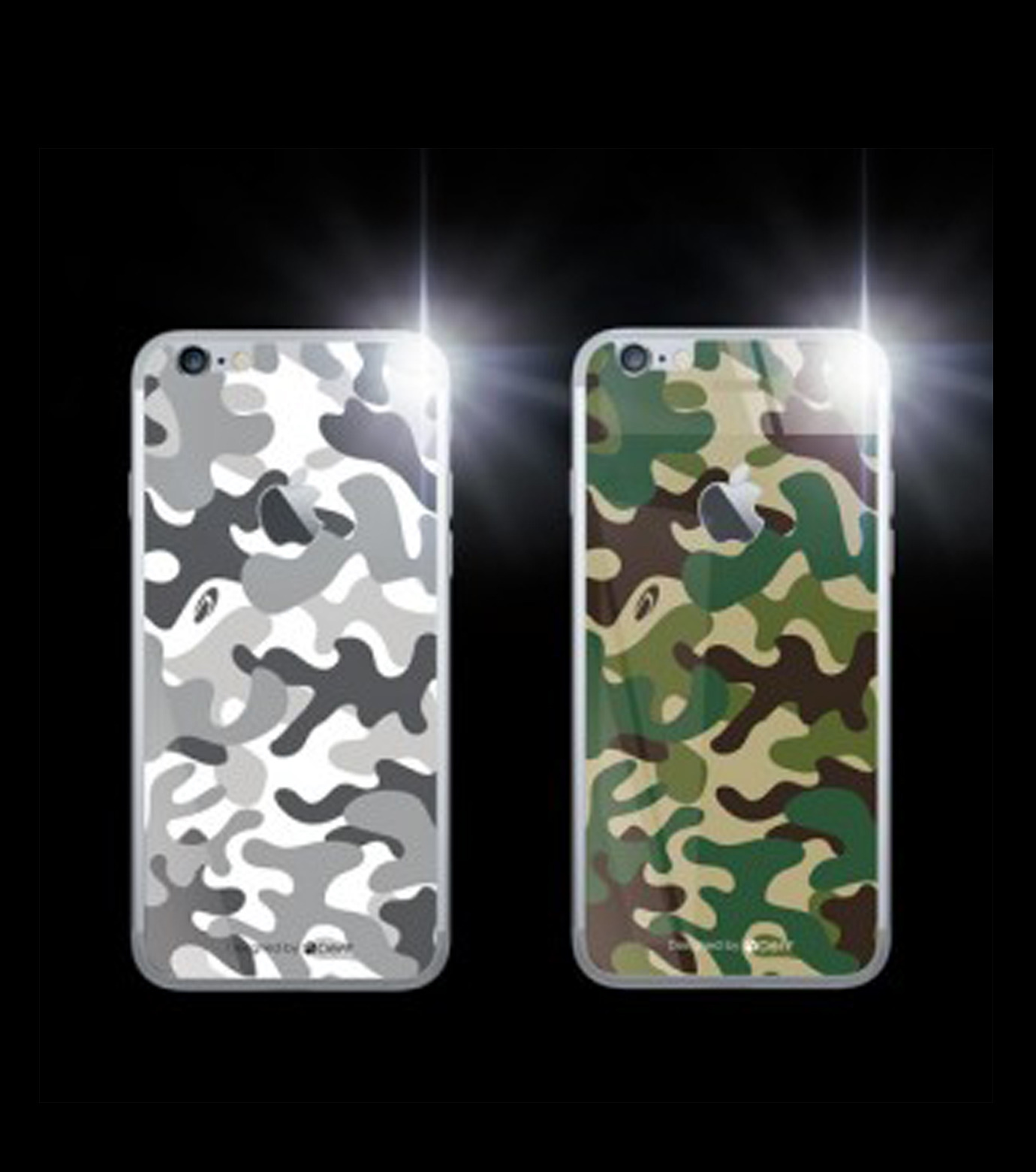 DeFF(ディーフ)のIP6 Glass Woodland-KHAKI(ケースiphone6/6s/case iphone6/6s)-IP6G3BCFGN-24 拡大詳細画像2