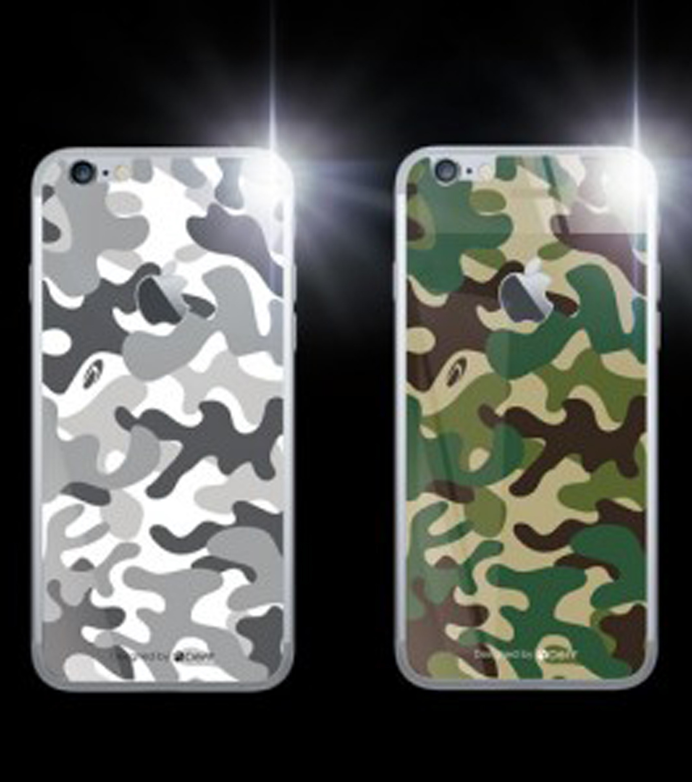 DeFF(ディーフ)のIP6+ Glass Woodland-KHAKI(ケースiphone6plus/6splus/case iphone6plus/6splus)-IP6PG3BCFGN-24 拡大詳細画像2