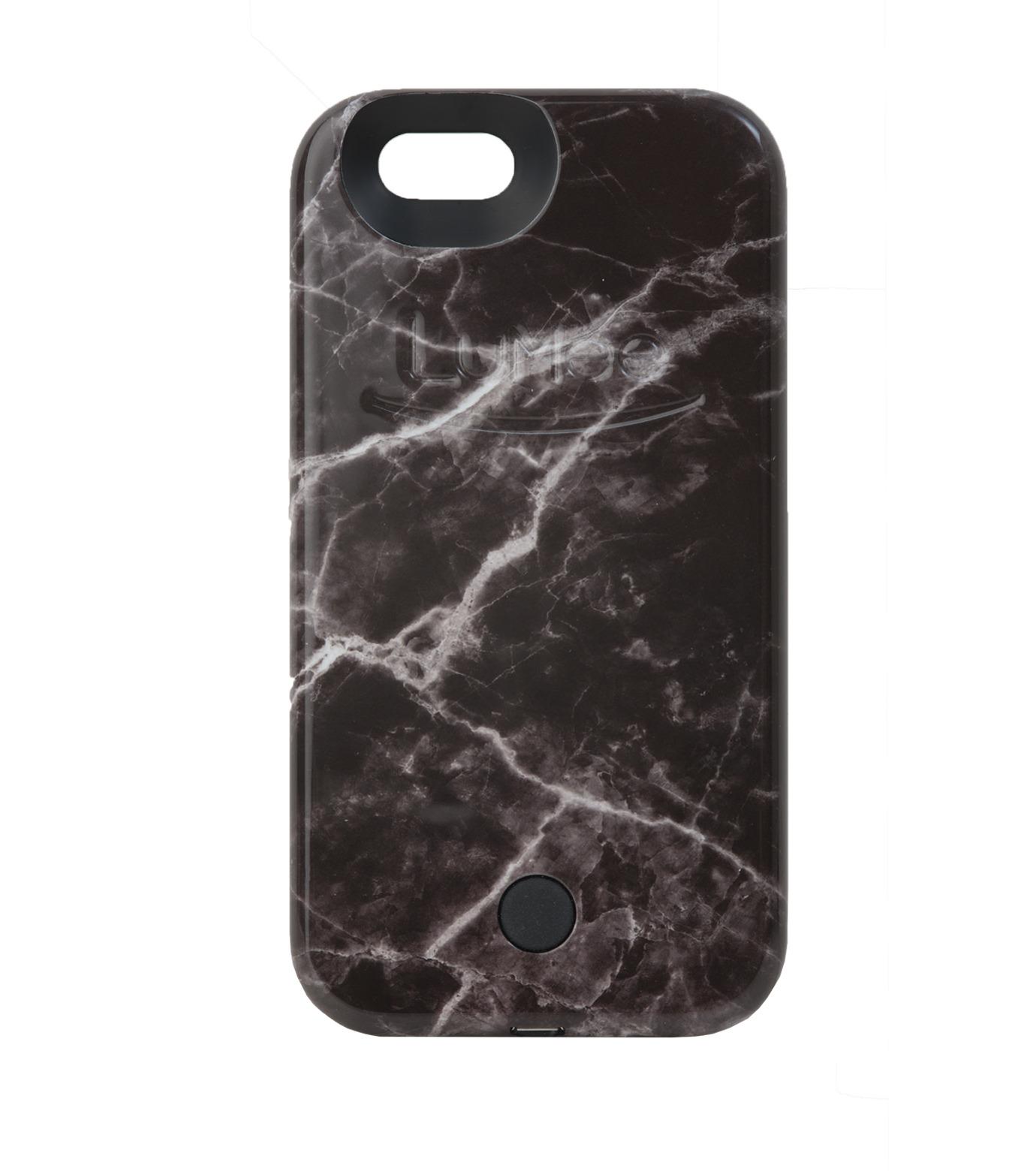 LuMee(ルーミー)のLuMee marble-BLACK-BLACK(ケース/cases)-IP6S-MAR-BLK-13 拡大詳細画像1