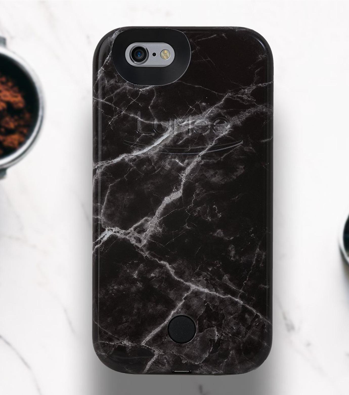 LuMee(ルーミー)のLuMee marble-BLACK-BLACK(ケース/cases)-IP6S-MAR-BLK-13 拡大詳細画像3
