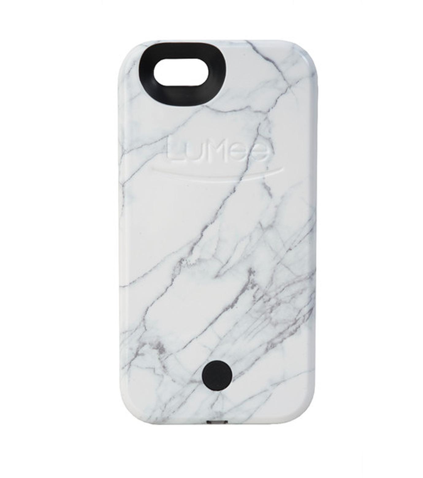 LuMee(ルーミー)のLuMee marble-WHITE-WHITE(ケース/cases)-IP6S-MAR-WHT-4 拡大詳細画像1