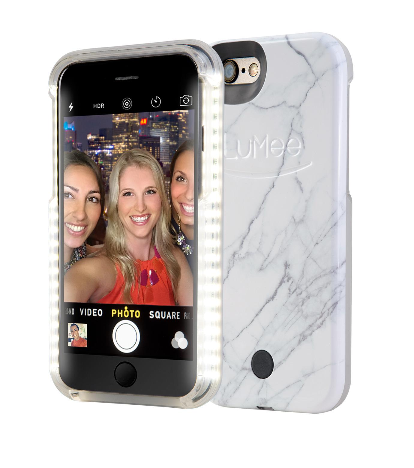 LuMee(ルーミー)のLuMee marble-WHITE-WHITE(ケース/cases)-IP6S-MAR-WHT-4 拡大詳細画像2