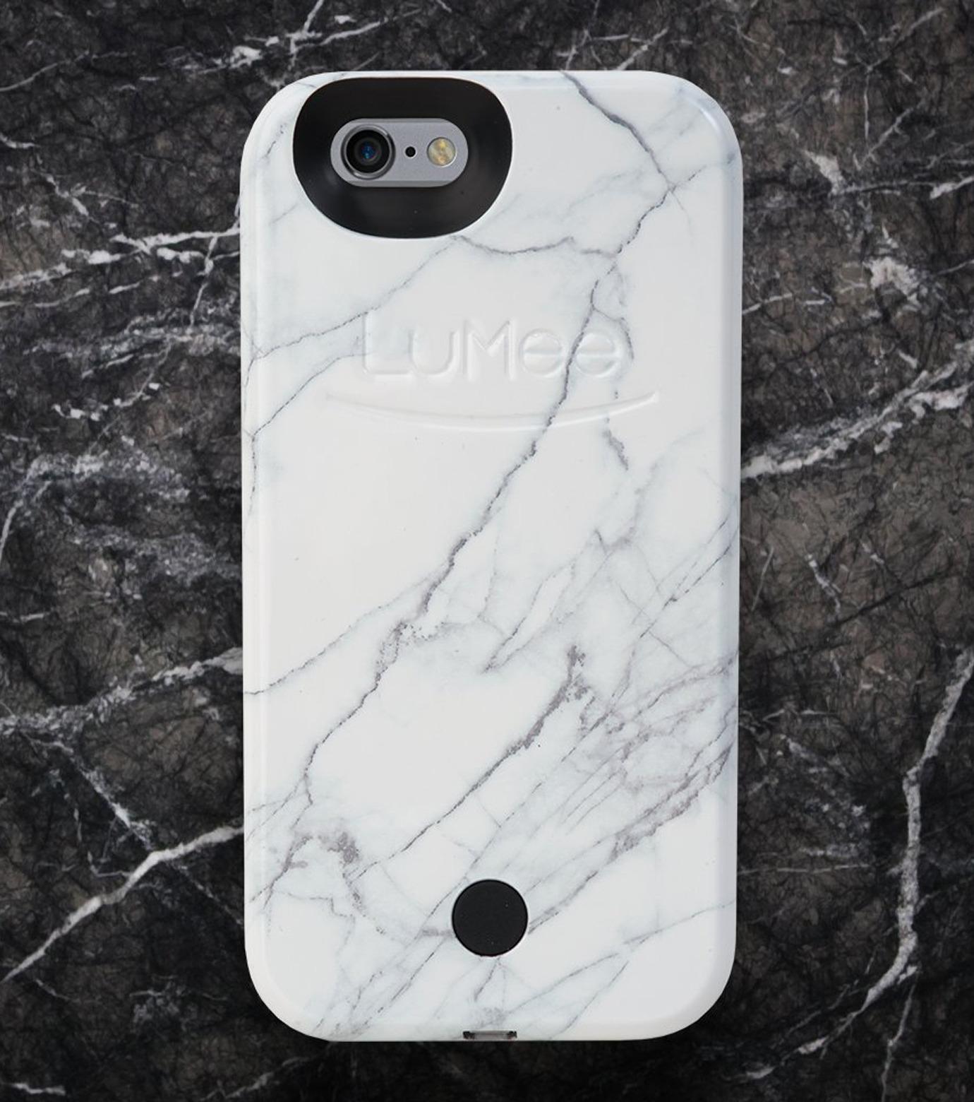 LuMee(ルーミー)のLuMee marble-WHITE-WHITE(ケース/cases)-IP6S-MAR-WHT-4 拡大詳細画像3