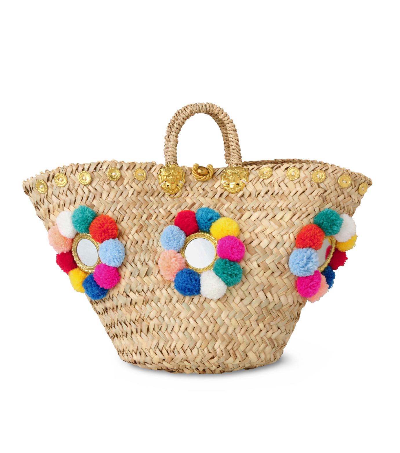 Muzungu Sisters(ムズング シスターズ)のSicilian Basket I-BEIGE(バッグ/bag)-IT001A-52 拡大詳細画像1
