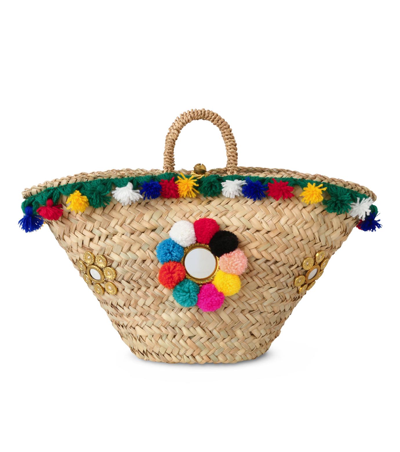 Muzungu Sisters(ムズング シスターズ)のSicilian Basket III-BEIGE(バッグ/bag)-IT001C-52 拡大詳細画像1