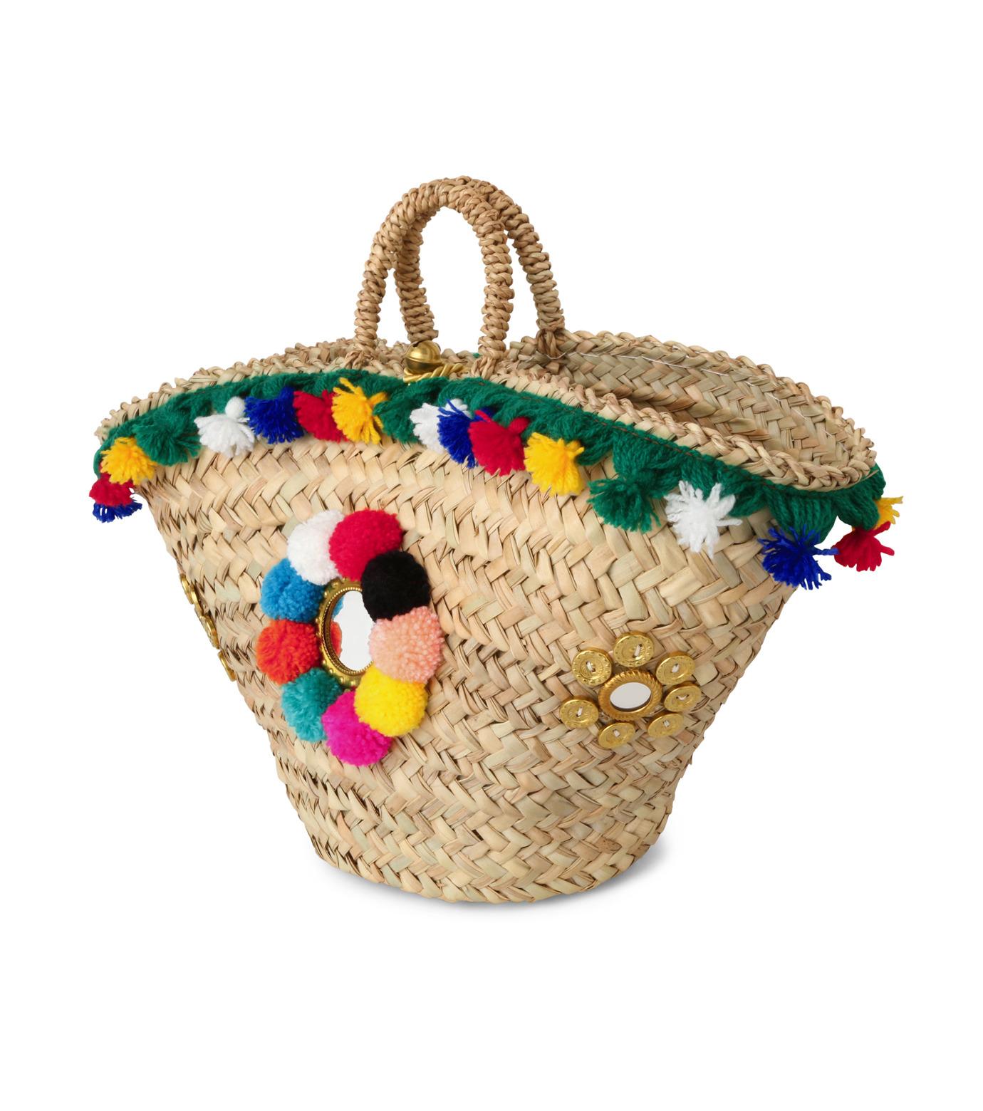 Muzungu Sisters(ムズング シスターズ)のSicilian Basket III-BEIGE(バッグ/bag)-IT001C-52 拡大詳細画像2