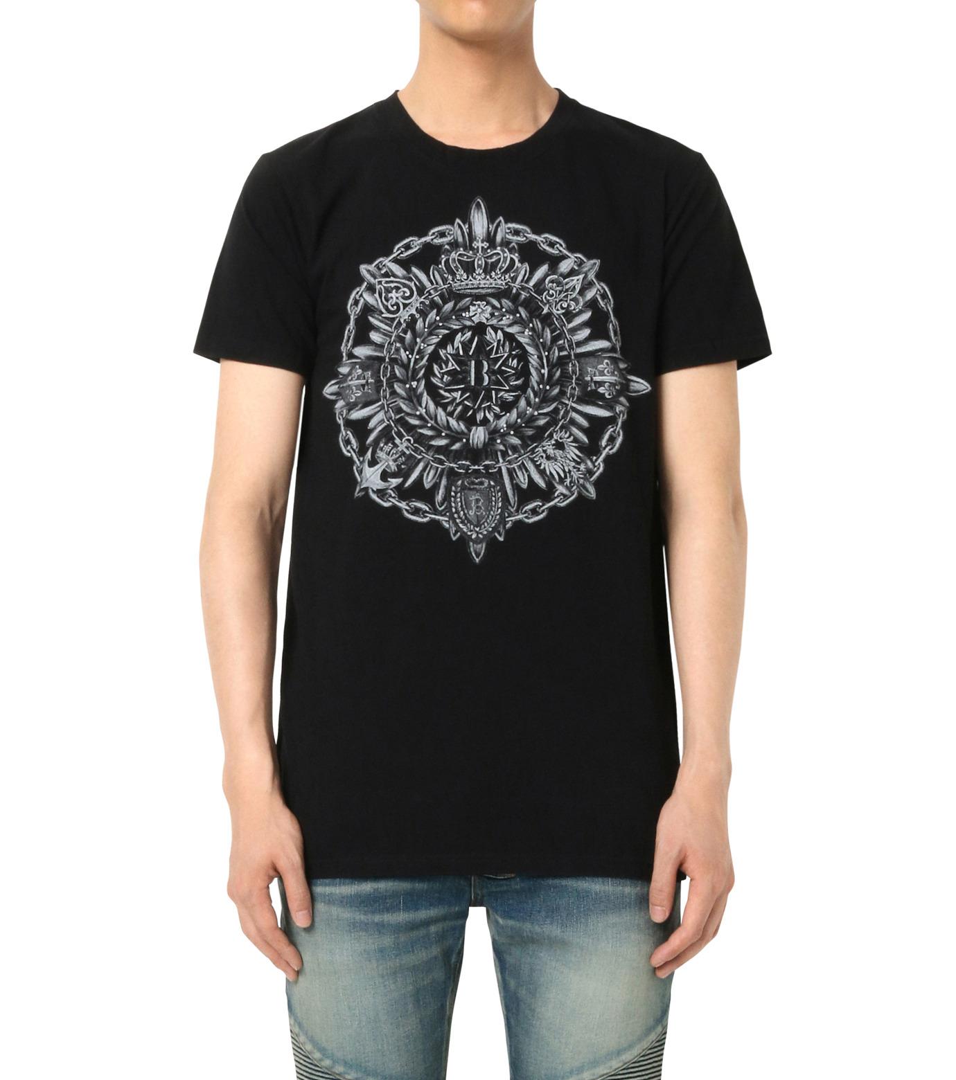 Balmain(バルマン)のB Logo T-BLACK(カットソー/cut and sewn)-J601-I006-13 拡大詳細画像1