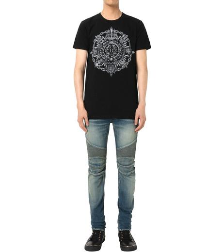 Balmain(バルマン)のB Logo T-BLACK(カットソー/cut and sewn)-J601-I006-13 詳細画像3