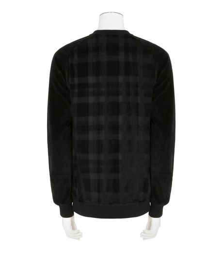 Balmain(バルマン)のTartancheck Velour Sweat-BLACK(カットソー/cut and sewn)-J80-D623-13 詳細画像2