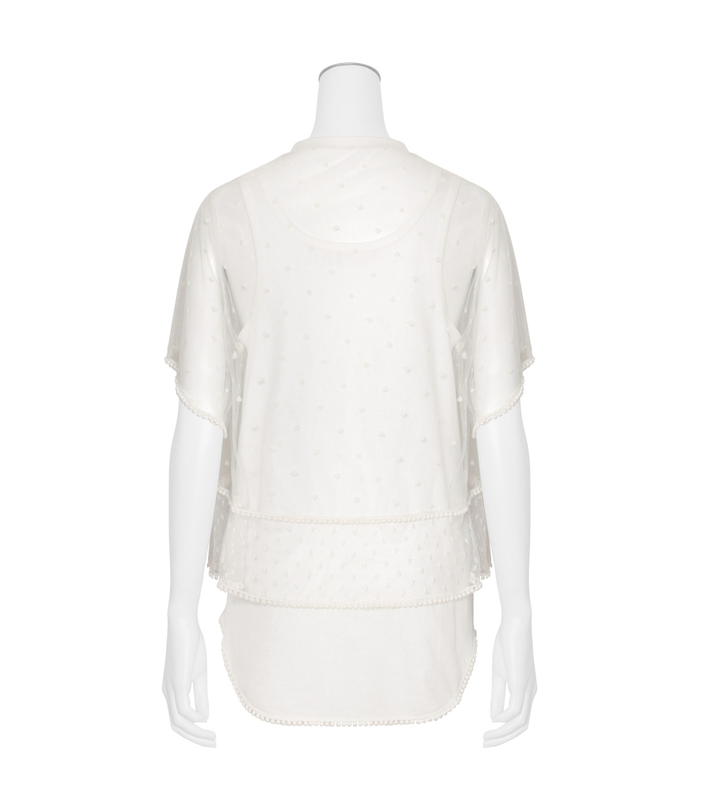 Chloe(クロエ)のdot lace t-shirt-WHITE(カットソー/cut and sewn)-JH12080B-4 拡大詳細画像2