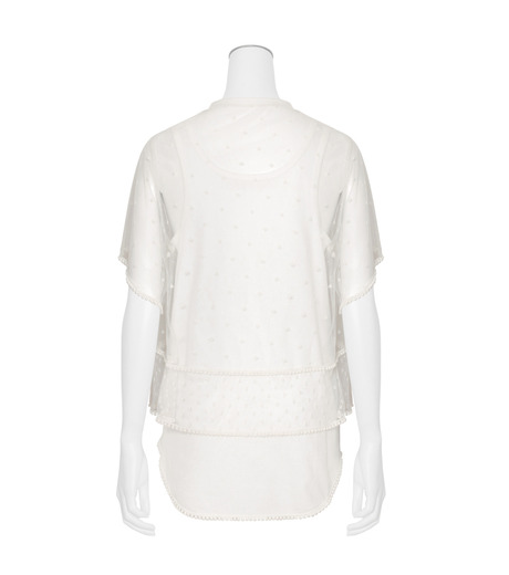 Chloe(クロエ)のdot lace t-shirt-WHITE(カットソー/cut and sewn)-JH12080B-4 詳細画像2