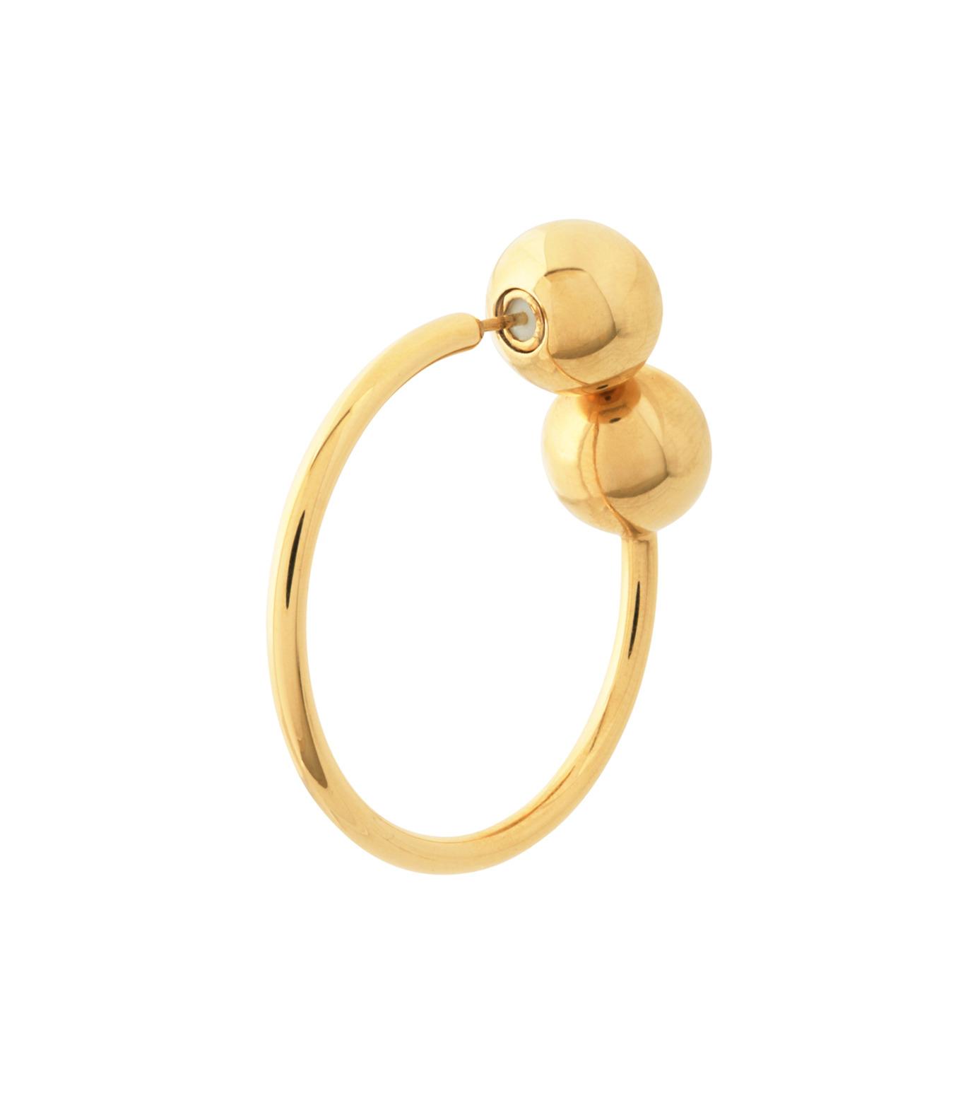 J.W.Anderson(ジェイダブリュー アンダーソン)のDouble Ball Earring-GOLD-JW03WP16-2 拡大詳細画像2