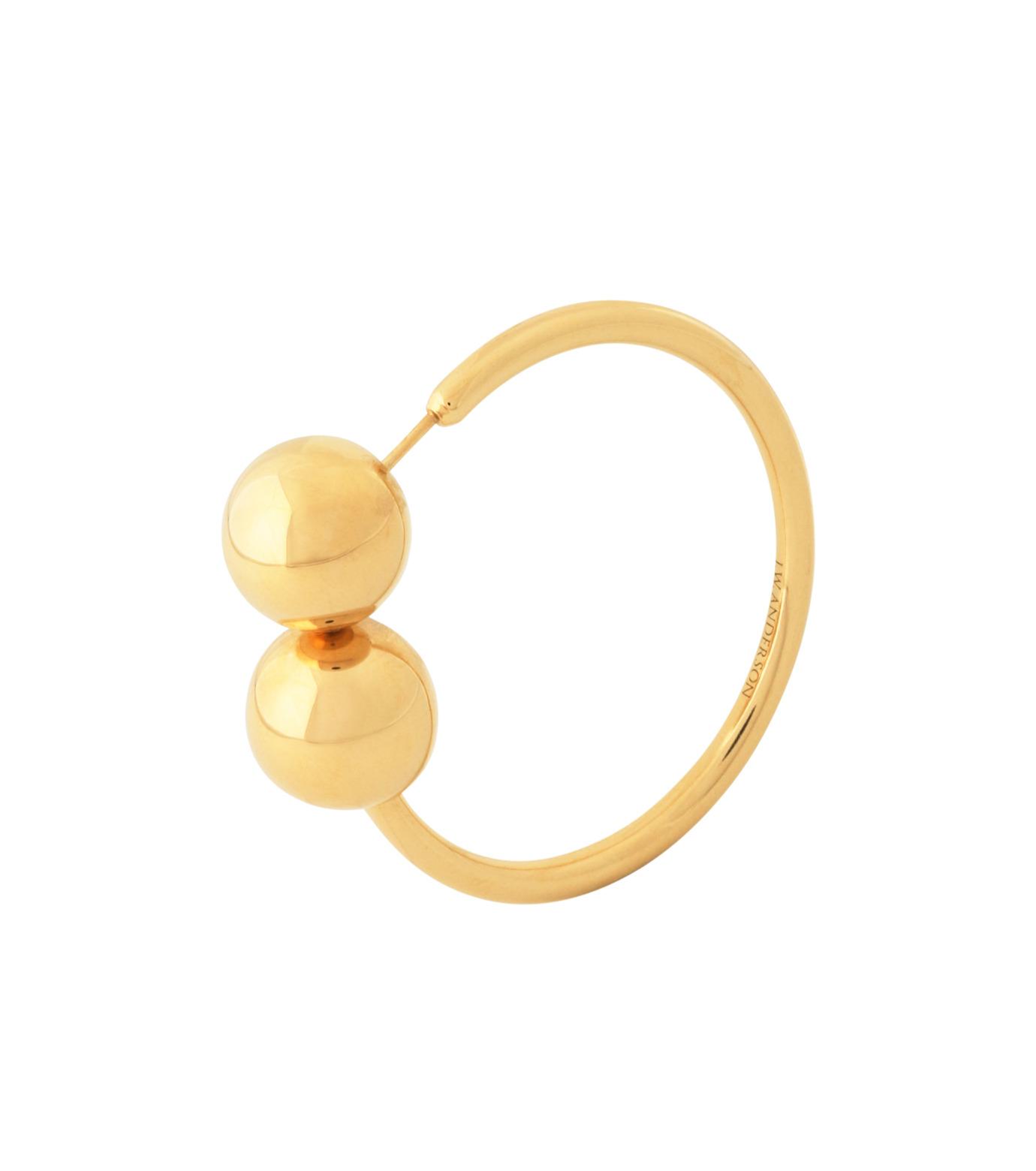 J.W.Anderson(ジェイダブリュー アンダーソン)のDouble Ball Earring-GOLD-JW03WP16-2 拡大詳細画像3