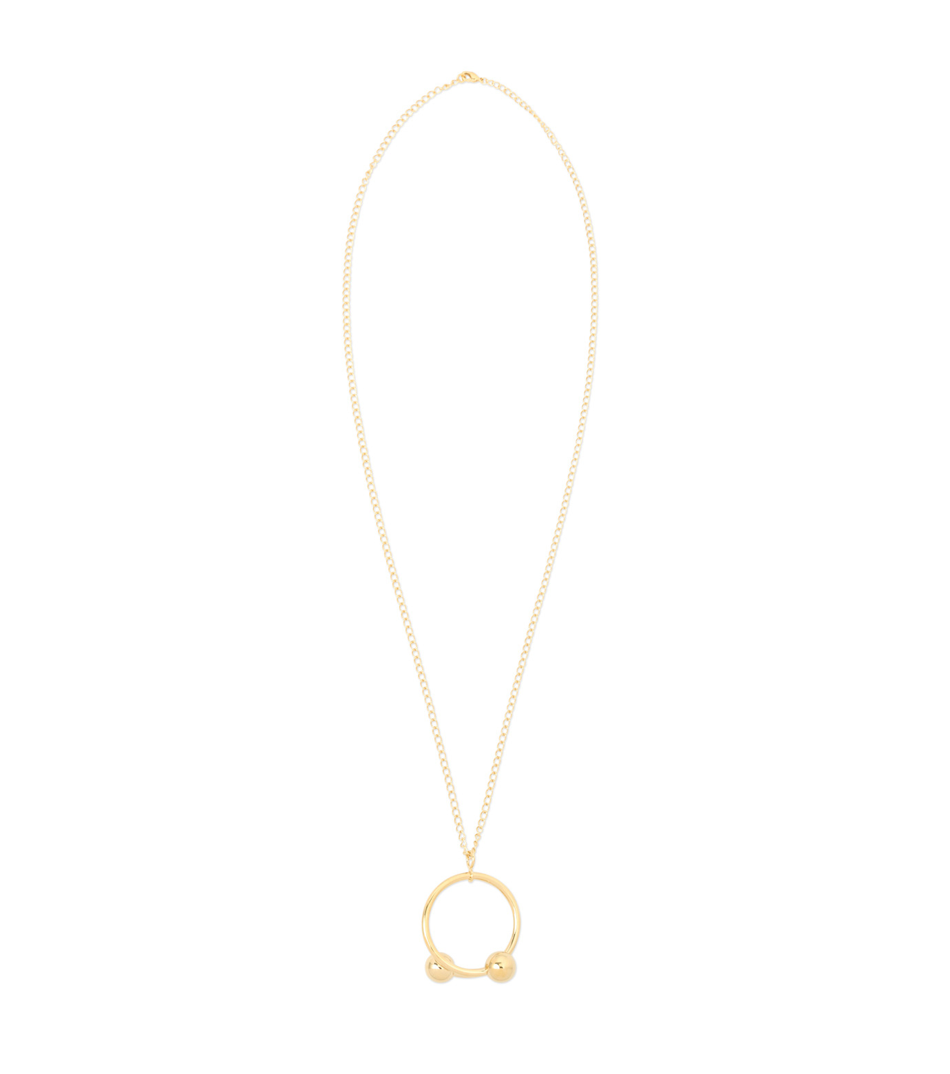 J.W.Anderson(ジェイダブリュー アンダーソン)のDouble Ball Pendant-GOLD(ネックレス/necklace)-JW04WP16-2 拡大詳細画像1