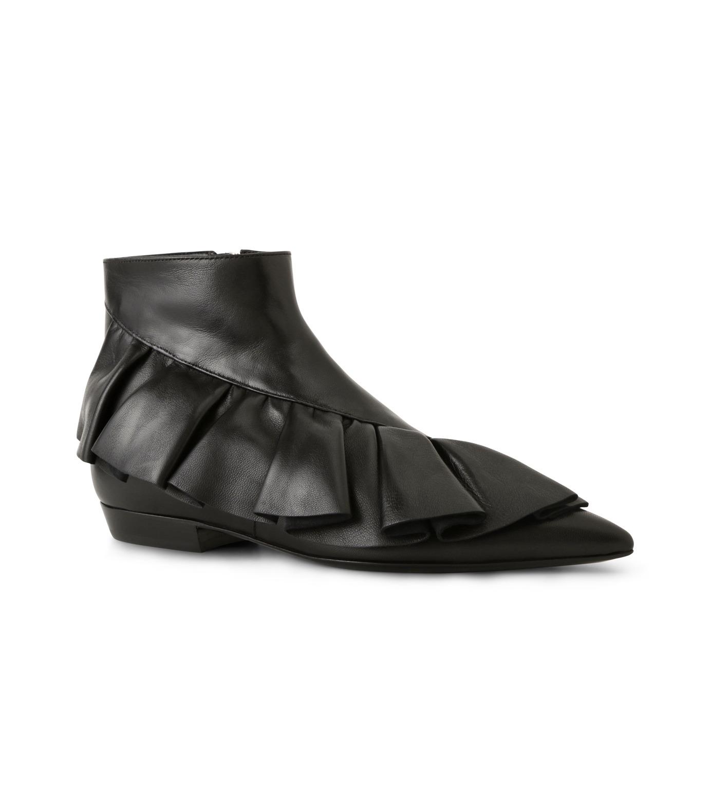 J.W.Anderson(ジェイダブリュー アンダーソン)のRuffle Bootie-BLACK(ブーツ/boots)-JWAFW01C-13 拡大詳細画像1