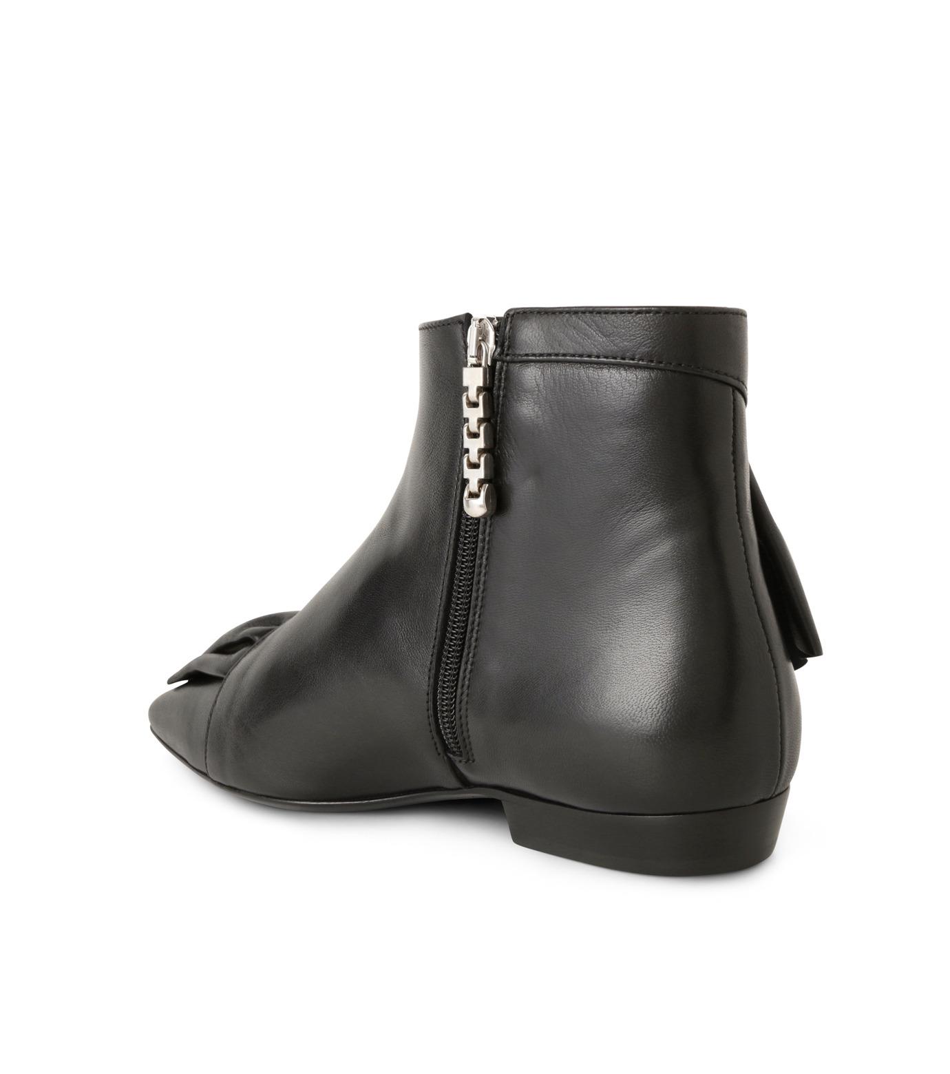 J.W.Anderson(ジェイダブリュー アンダーソン)のRuffle Bootie-BLACK(ブーツ/boots)-JWAFW01C-13 拡大詳細画像2