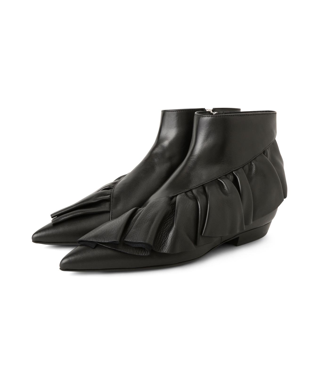 J.W.Anderson(ジェイダブリュー アンダーソン)のRuffle Bootie-BLACK(ブーツ/boots)-JWAFW01C-13 拡大詳細画像3
