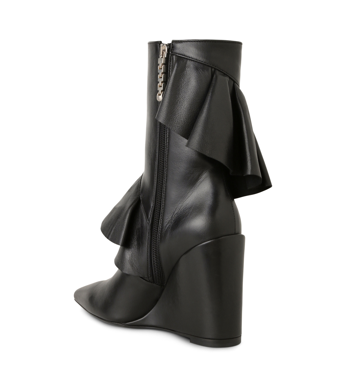 J.W.Anderson(ジェイダブリュー アンダーソン)のMid Calf Ruffle Boot-BLACK(ブーツ/boots)-JWAFW03C-13 拡大詳細画像2