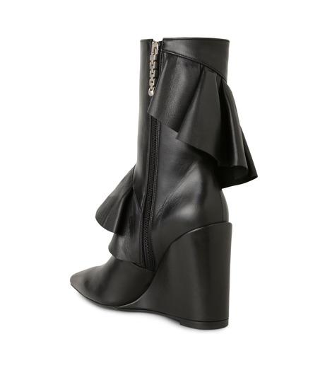 J.W.Anderson(ジェイダブリュー アンダーソン)のMid Calf Ruffle Boot-BLACK(ブーツ/boots)-JWAFW03C-13 詳細画像2