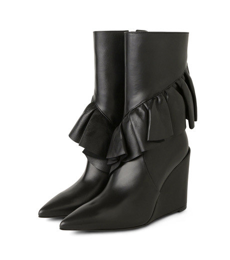 J.W.Anderson(ジェイダブリュー アンダーソン)のMid Calf Ruffle Boot-BLACK(ブーツ/boots)-JWAFW03C-13 詳細画像3