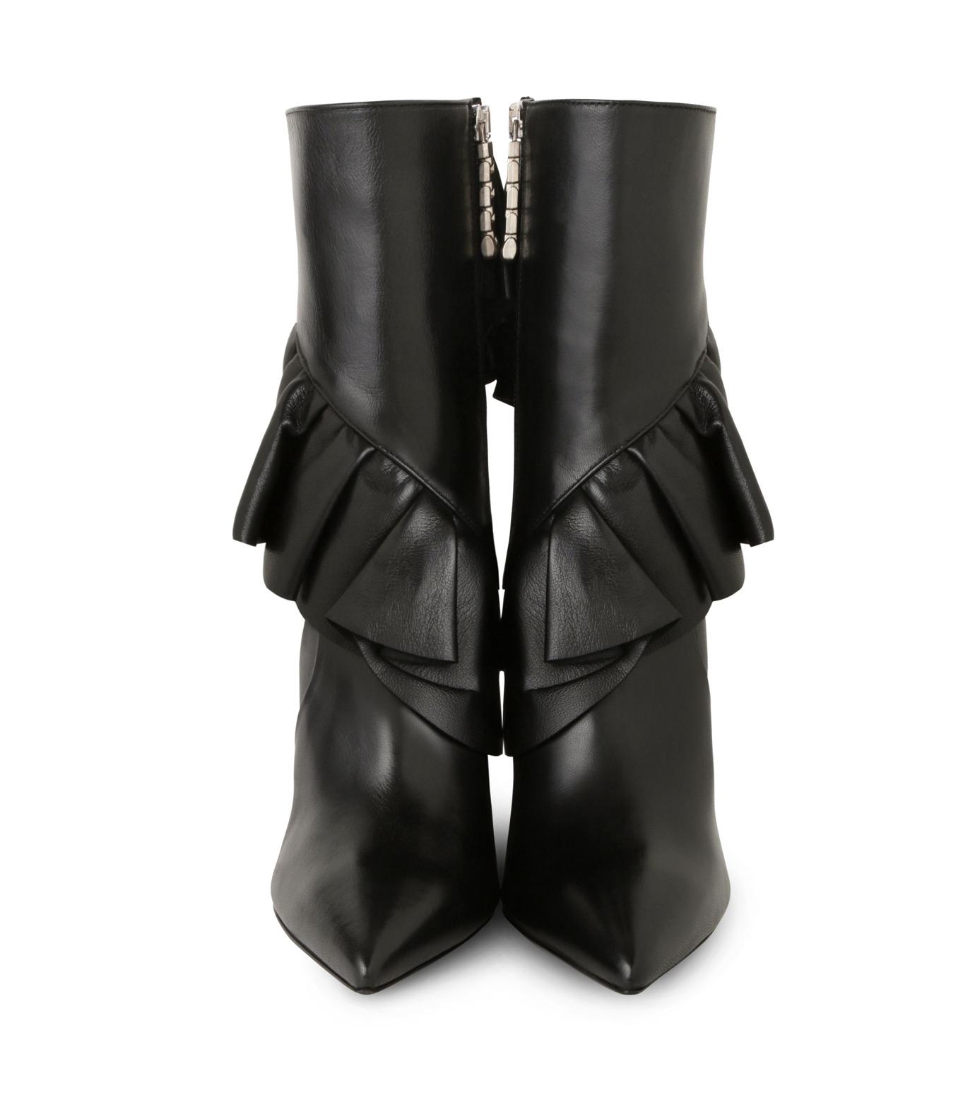 J.W.Anderson(ジェイダブリュー アンダーソン)のMid Calf Ruffle Boot-BLACK(ブーツ/boots)-JWAFW03C-13 拡大詳細画像4