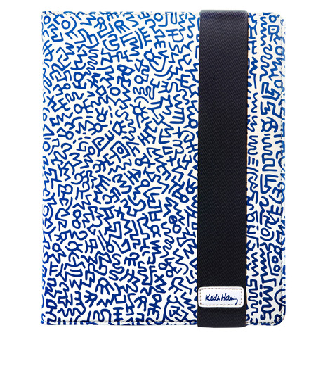 CASE SCENARIO(ケースシナリオ)のKEITH HARING iPAD NUBUK STANDING BOOK CASE-BLUE(ケース/cases)-KH-IPBK-N-GP-92 詳細画像1