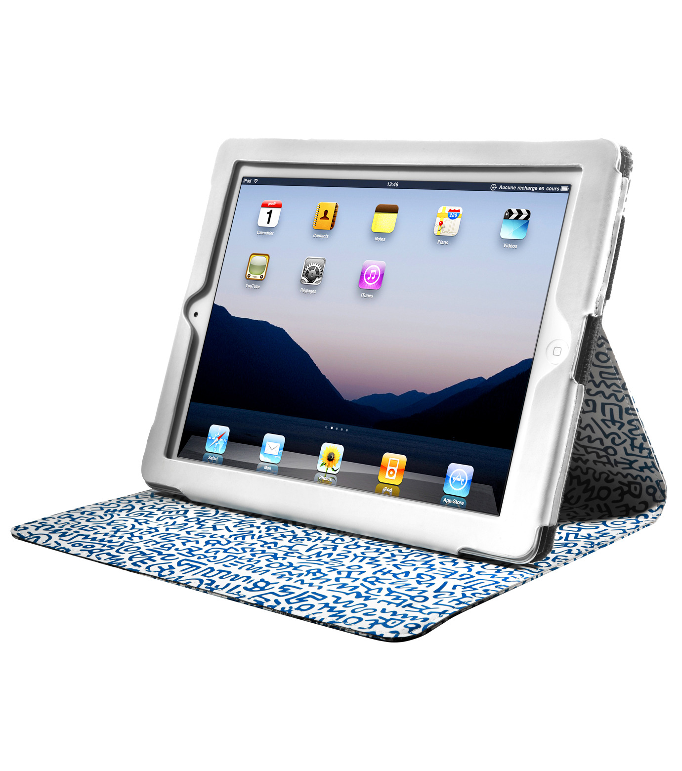 CASE SCENARIO(ケースシナリオ)のKEITH HARING iPAD NUBUK STANDING BOOK CASE-BLUE(ケース/cases)-KH-IPBK-N-GP-92 拡大詳細画像2