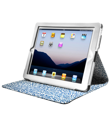 CASE SCENARIO(ケースシナリオ)のKEITH HARING iPAD NUBUK STANDING BOOK CASE-BLUE(ケース/cases)-KH-IPBK-N-GP-92 詳細画像2