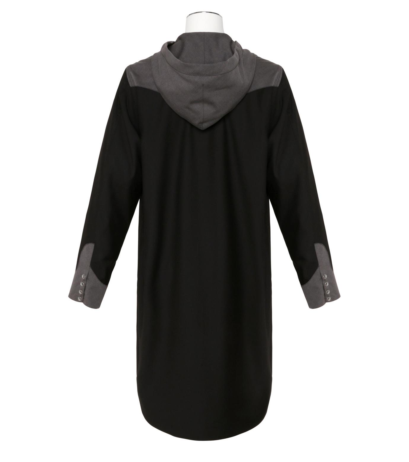 KIDILL(キディル)のWestern Hooded Shirt-BLACK(シャツ/shirt)-KL160-13 拡大詳細画像2