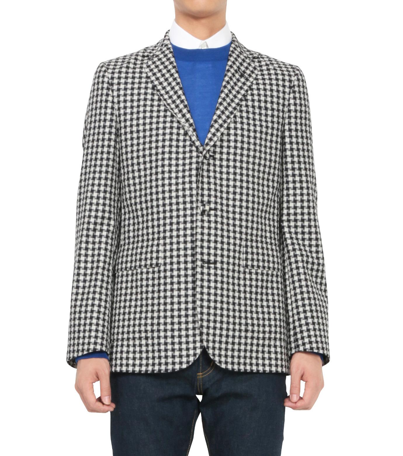 MAISON KITSUNÉ(メゾンキツネ)のSheepherds Check Jacket-BLACK(ジャケット/jacket)-KMV0503-13 拡大詳細画像1