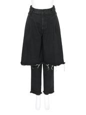 Ksenia Schnaider() Black Cotton Demi Pants