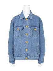 Ksenia Schnaider() D.Blue Denim Jacket w/Yellow Letters