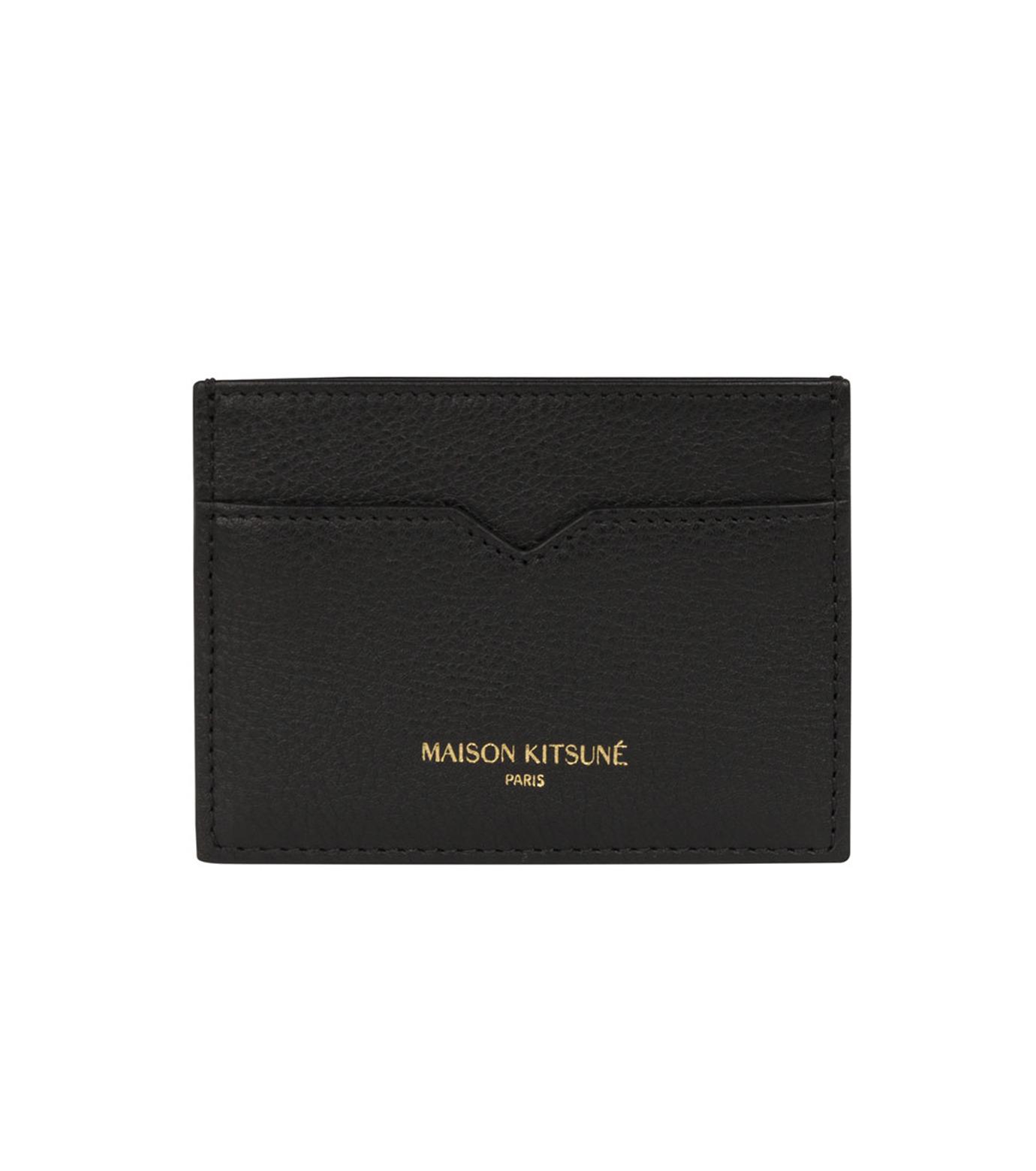 MAISON KITSUNÉ(メゾンキツネ)のcard holder-BLACK(WALLETS/WALLETS)-KUZ8600-13 拡大詳細画像1