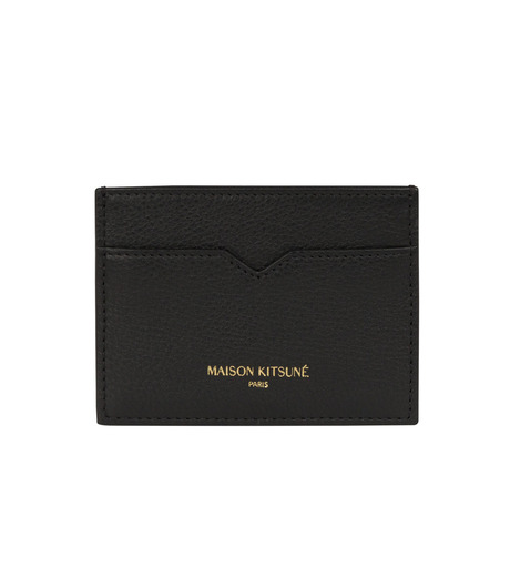 MAISON KITSUNÉ(メゾンキツネ)のcard holder-BLACK(WALLETS/WALLETS)-KUZ8600-13 詳細画像1