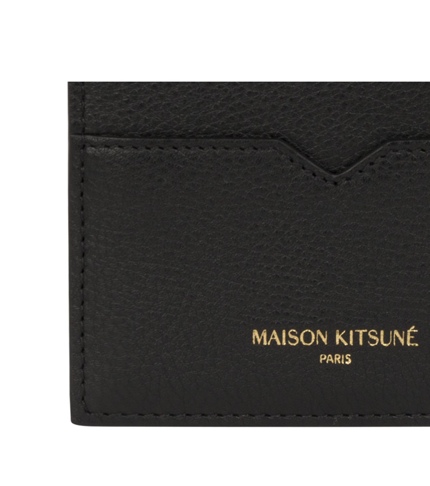 MAISON KITSUNÉ(メゾンキツネ)のcard holder-BLACK(WALLETS/WALLETS)-KUZ8600-13 拡大詳細画像2