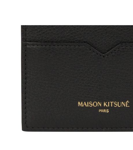 MAISON KITSUNÉ(メゾンキツネ)のcard holder-BLACK(WALLETS/WALLETS)-KUZ8600-13 詳細画像2