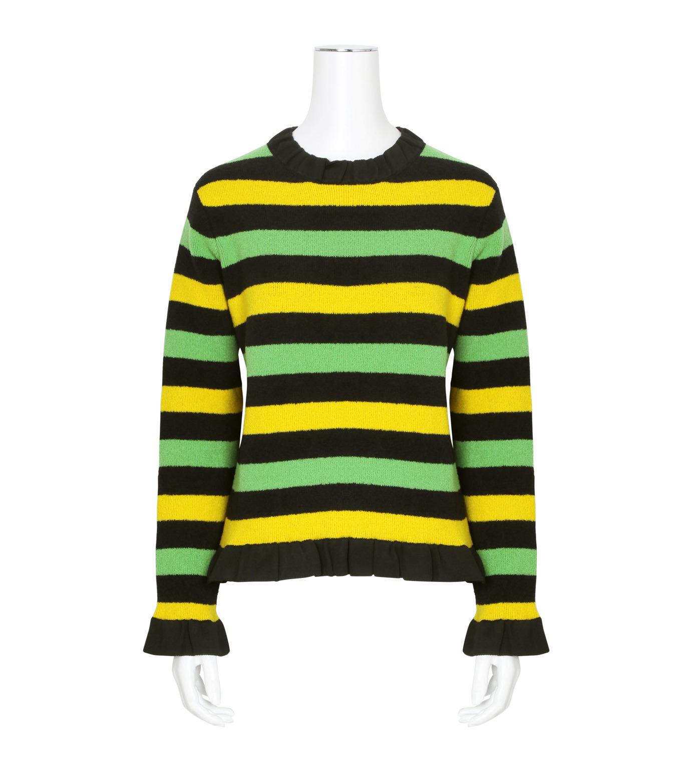 J.W.Anderson(ジェイダブリュー アンダーソン)のStriped Boucle Sweater-GREEN(ニット/knit)-KW11-22 拡大詳細画像1